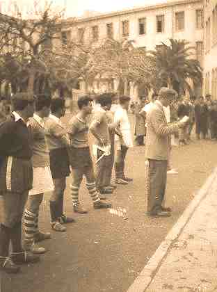 Au lycée carnot de tunis, en 1950